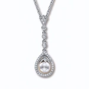 Neil Lane Cultured Pearl and Diamond Necklace
